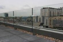 Balustrada tarasowa szklana biurowiec Warszawa ul. Grzybowska