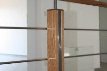 Balustrada stal nierdzewna łączona z drewnem, pensjonat Nidzica