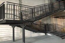 Schody stalowe wewnętrzne Pruszków Galeria Kolejowa