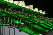 Stadion Legii Warszawa balustrady podświetlane